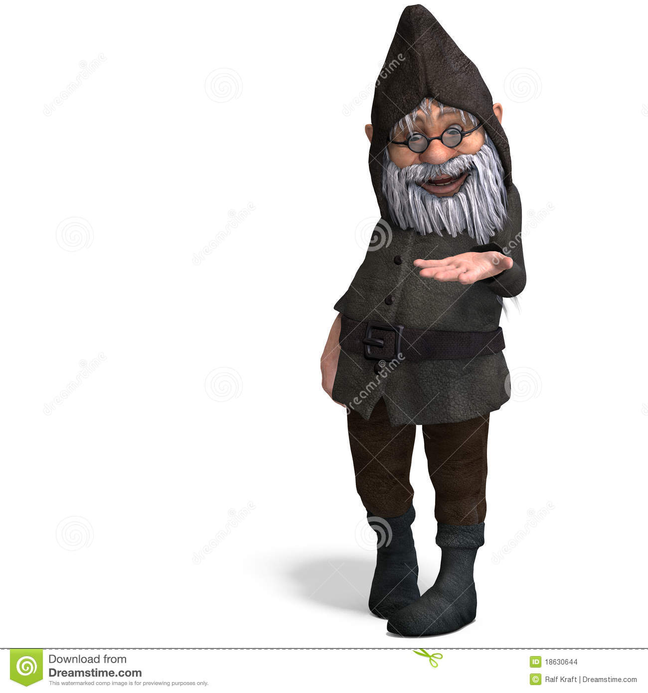 Cute And Funny Cartoon Garden Gnome Stock Images Image 18630644