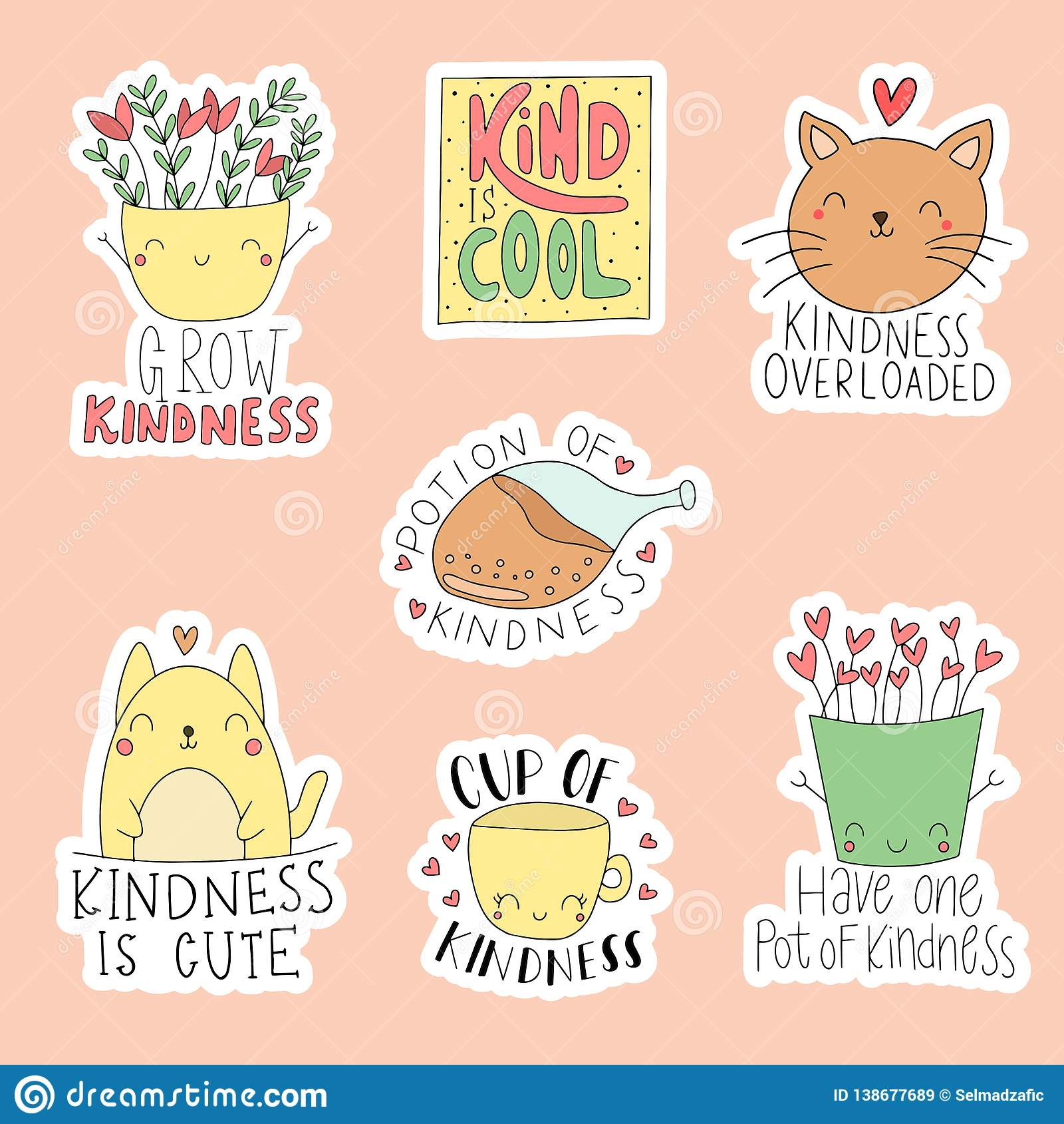 Cute Funny Clipart Vector Illustration Can Be Used For Children Book Scrapbooking Stickers Other Concept For Children Print Stock Illustration Illustration Of Pattern Background 138677689