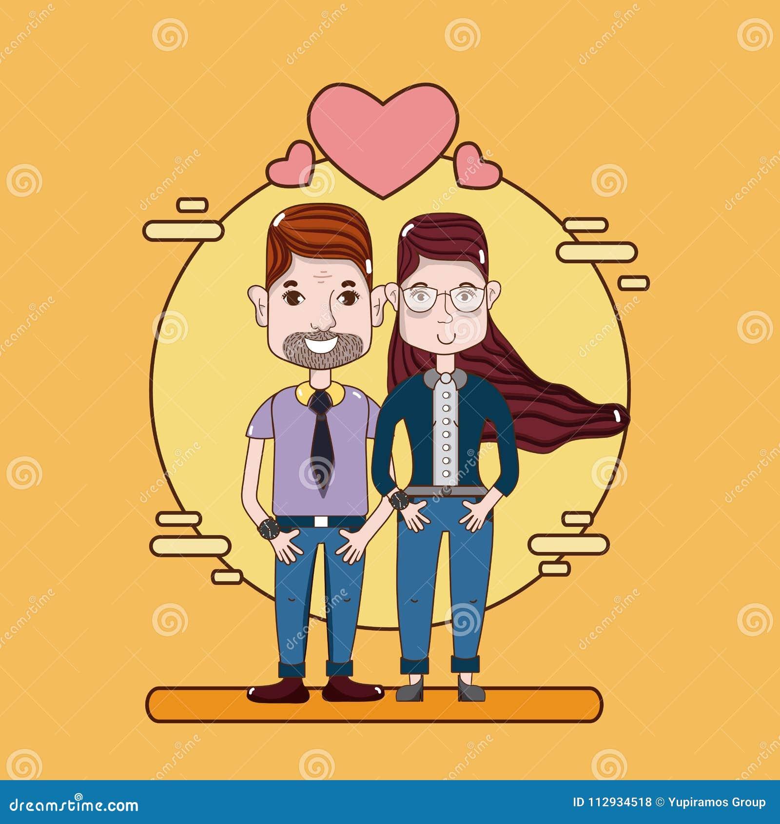 funny couple cartoons