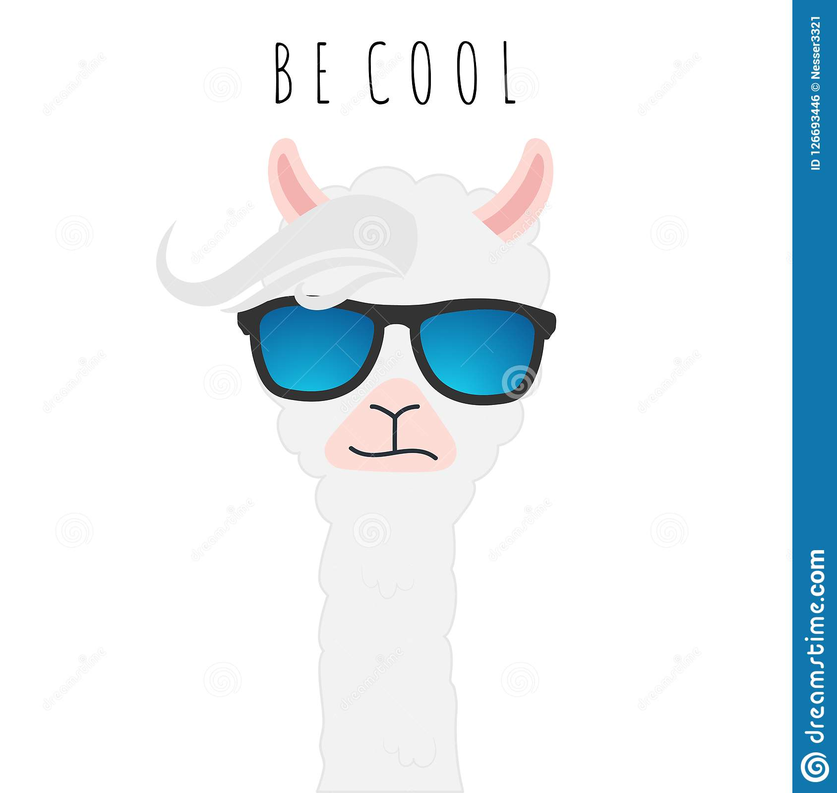 e1a4aaf08386 Cute Llama Design With No Drama Motivational Quote. Stock Vector ...