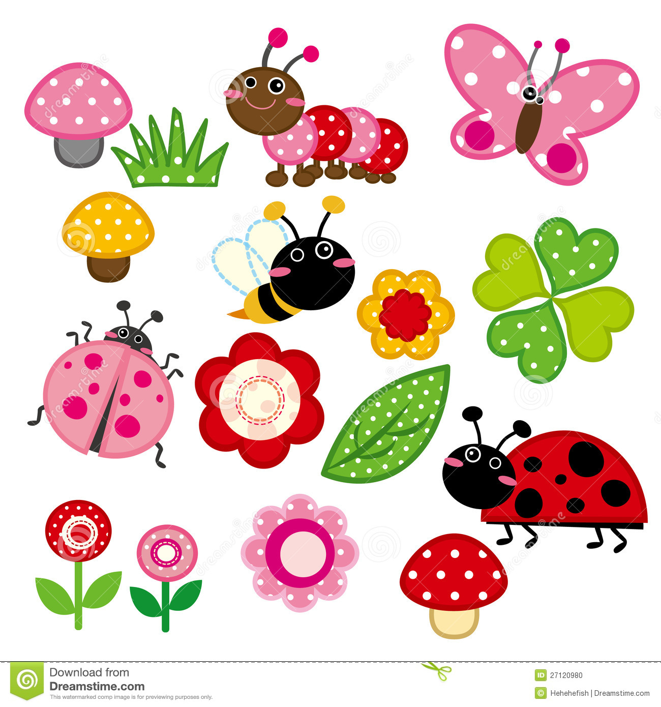 Cute garden insect stock photo image 27120980 for Arthouse jardin wallpaper