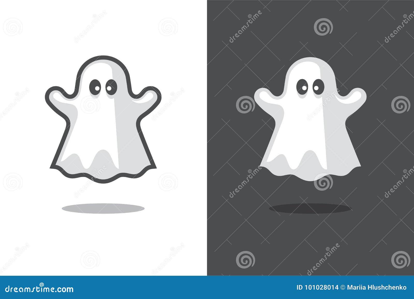 Cute ghost icon. stock vector. Illustration of spirit ...
