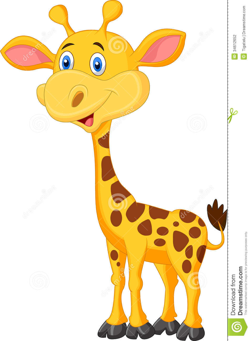 cute giraffe cartoon stock photography image 34612652 clipart jungle animals black and white clip art jungle animals in color