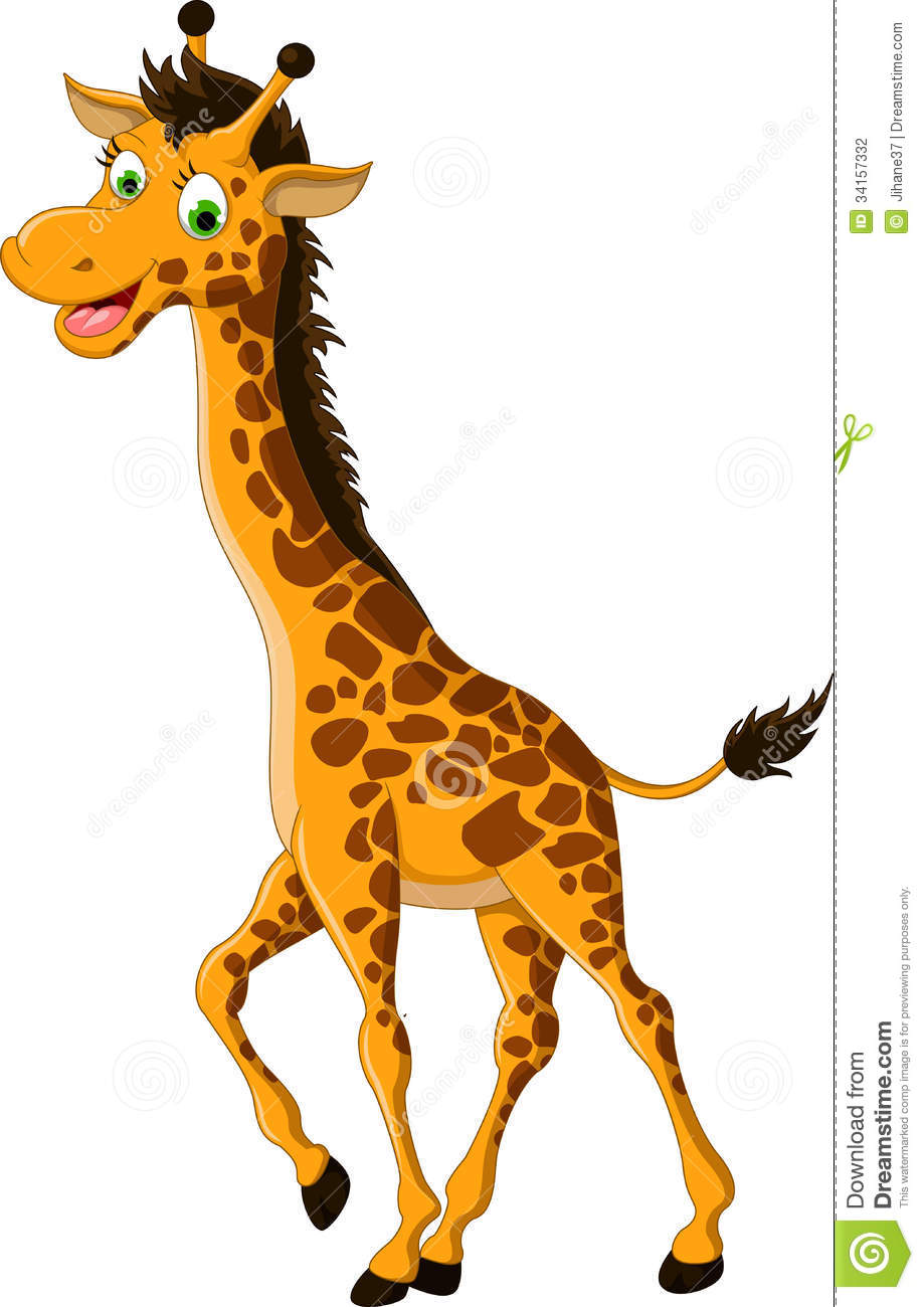 Cute Giraffe Cartoon Smiling Stock Photography - Image: 34157332
