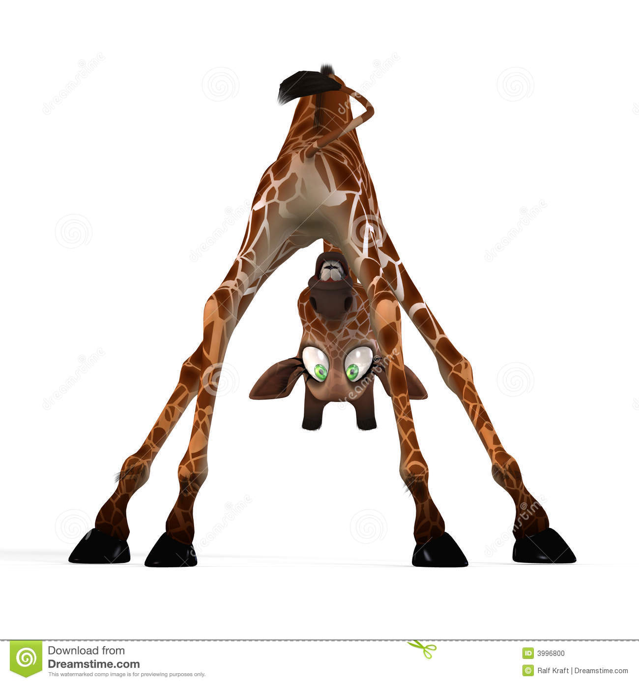 Cute Giraffe With A Funny Face - Lovely Stock Illustration ...