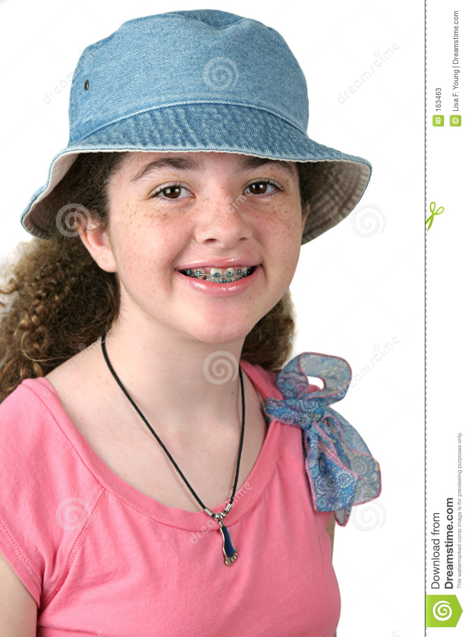 Cute Girl With Braces
