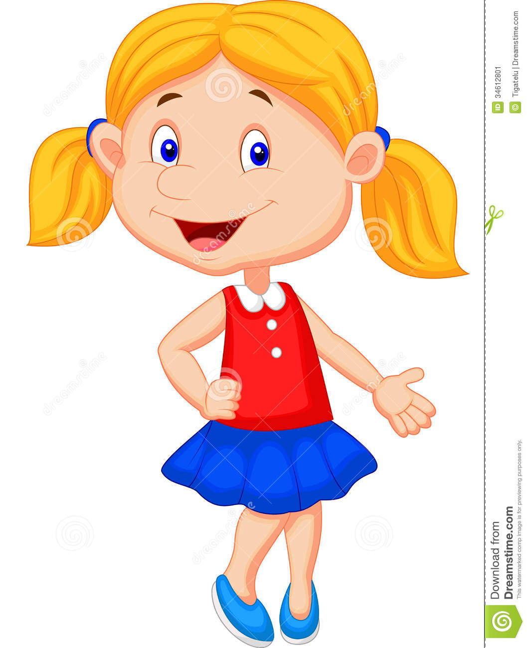 Picture of a girl cartoon
