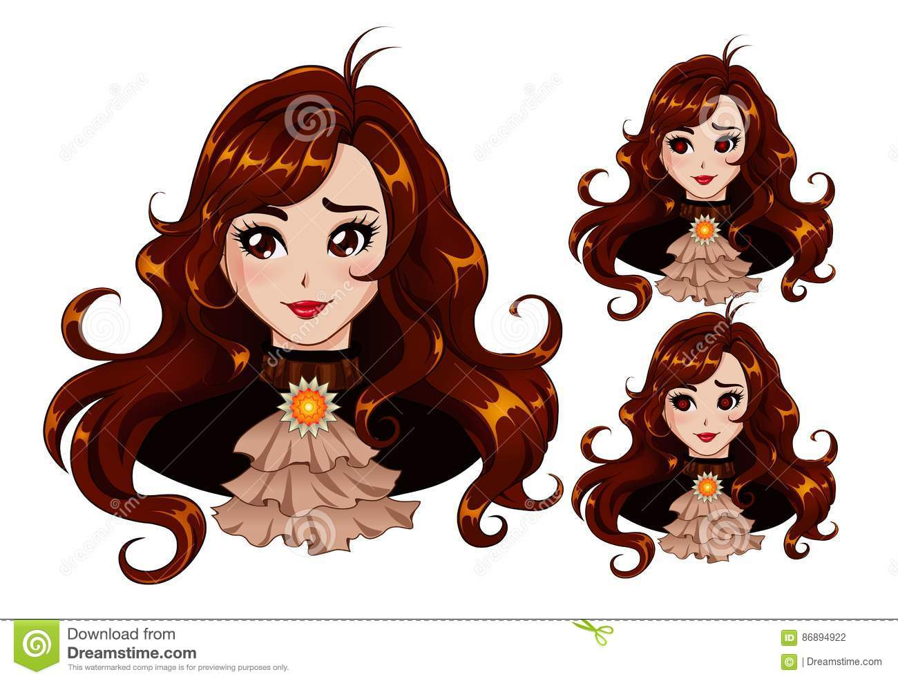Cute Girl Stock Vector Illustration Of Lips Glowing 86894922