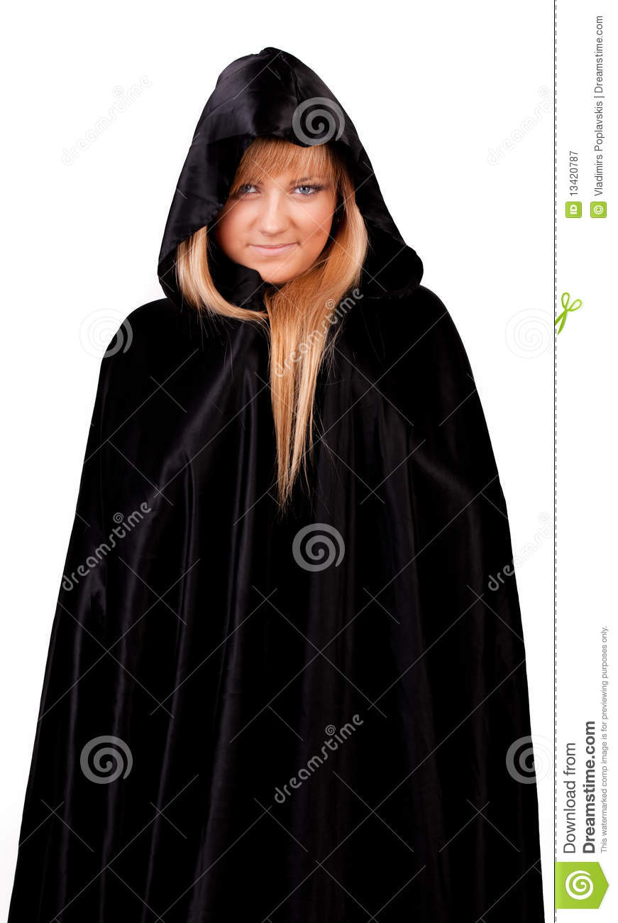 Cute Girl In Cloak Royalty Free Stock Photography - Image: 13420787