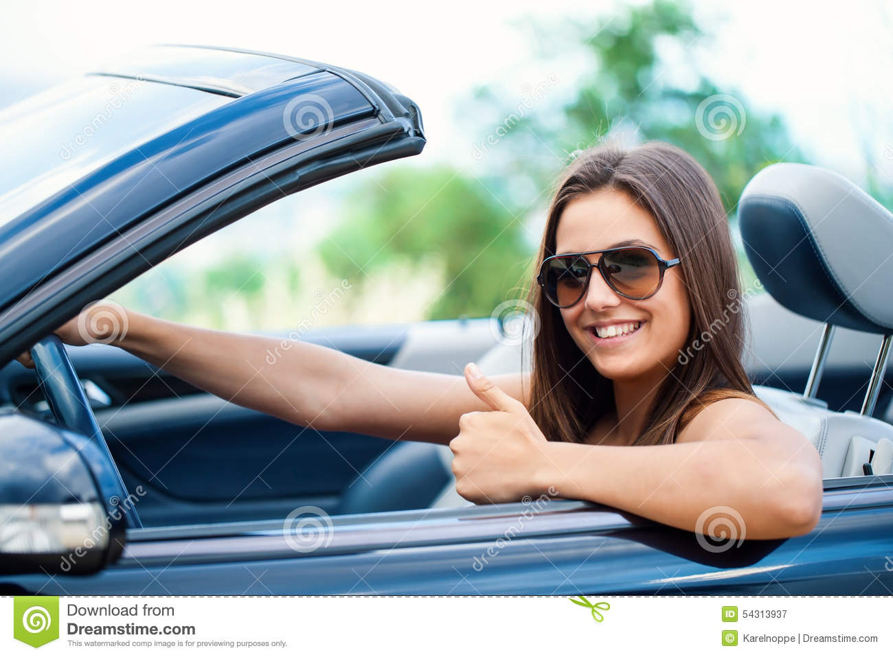 Idea Video naked girl driving convertible cars