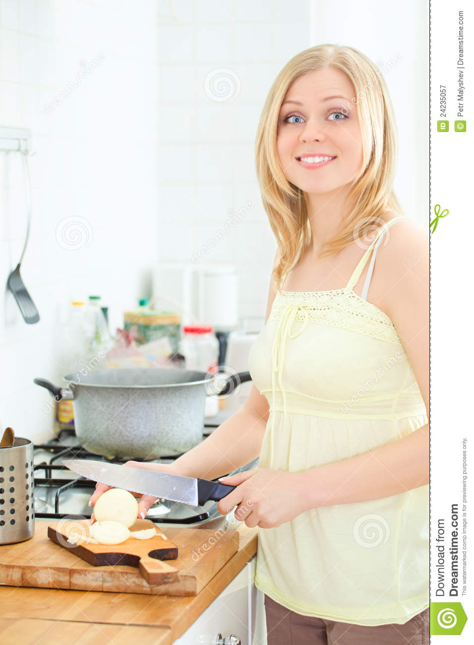 Cute girl cooking royalty free stock photography image 24235057 - Stylish cooking ...