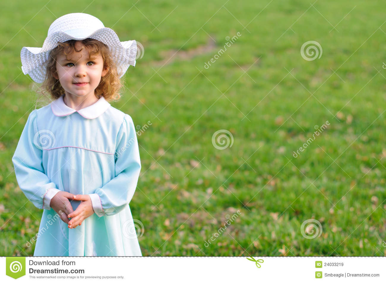 Cute Girl In Easter Dress And Bonnet Royalty Free Stock Images ...