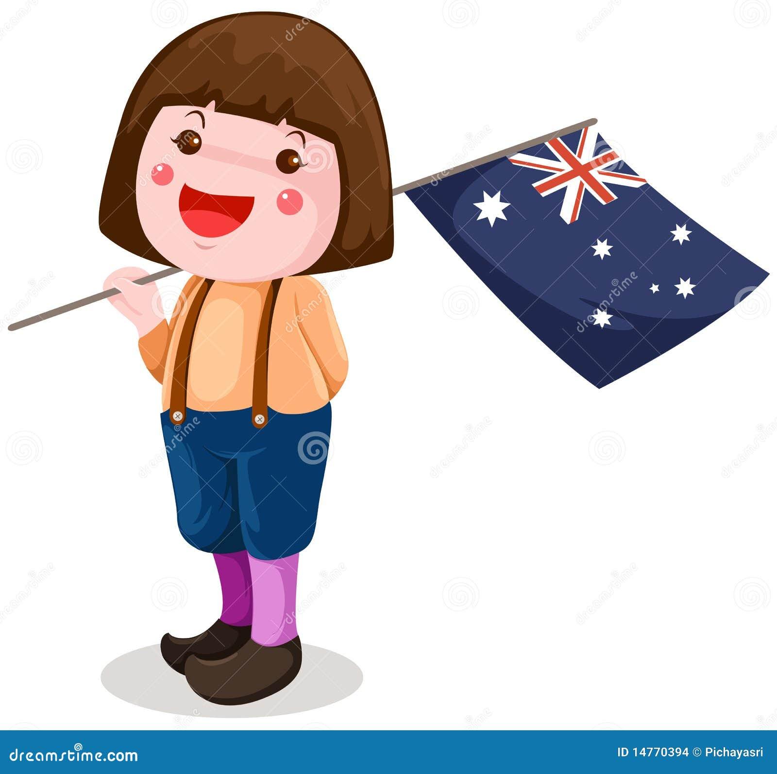 cute girl holding australian flag stock vector image korea flag vector korean flag vector free download
