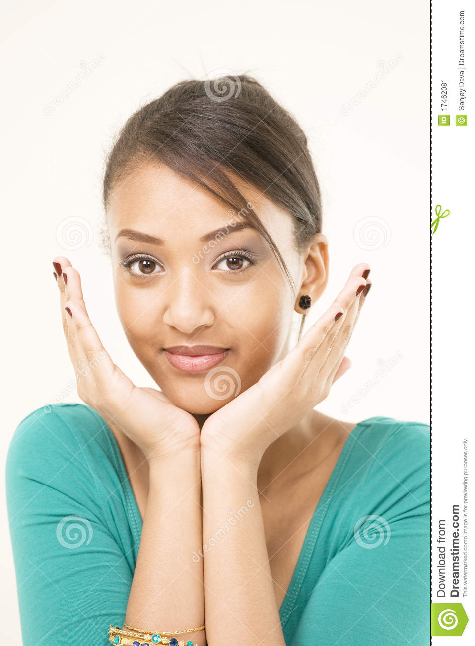 Cute Girl Interested Expression Stock Image - Image: 17462081