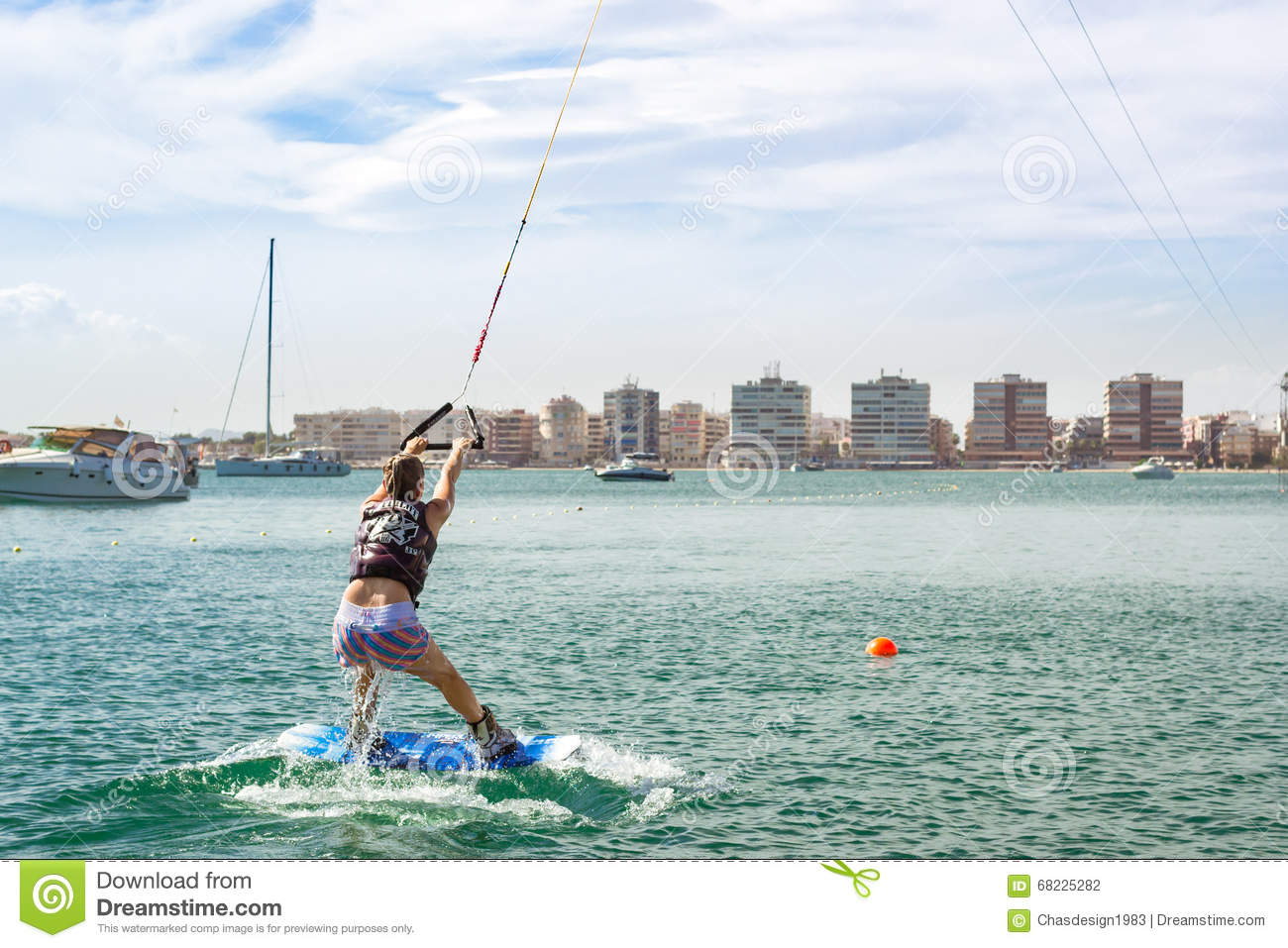 Drifting car and girl editorial image - Z yachting torrevieja ...