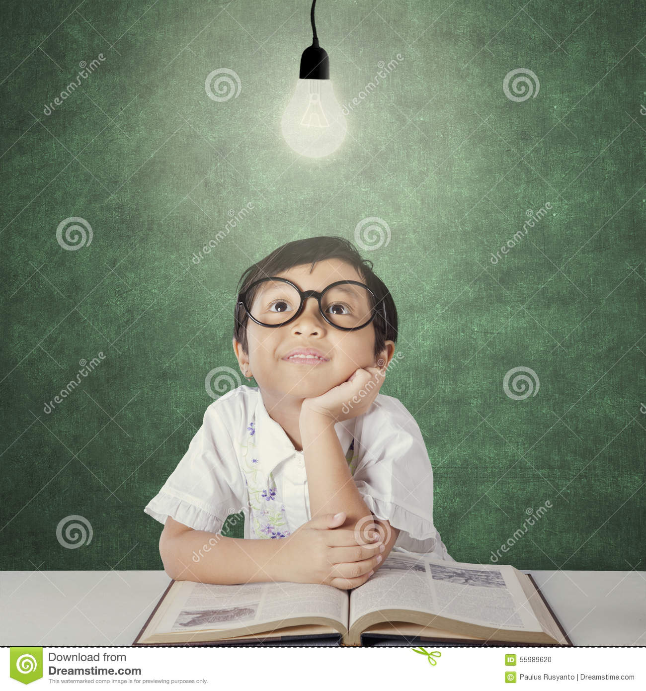Cute girl look up at lamp stock photo. Image of concept - 55989620 for Little Girl With Lamp  569ane