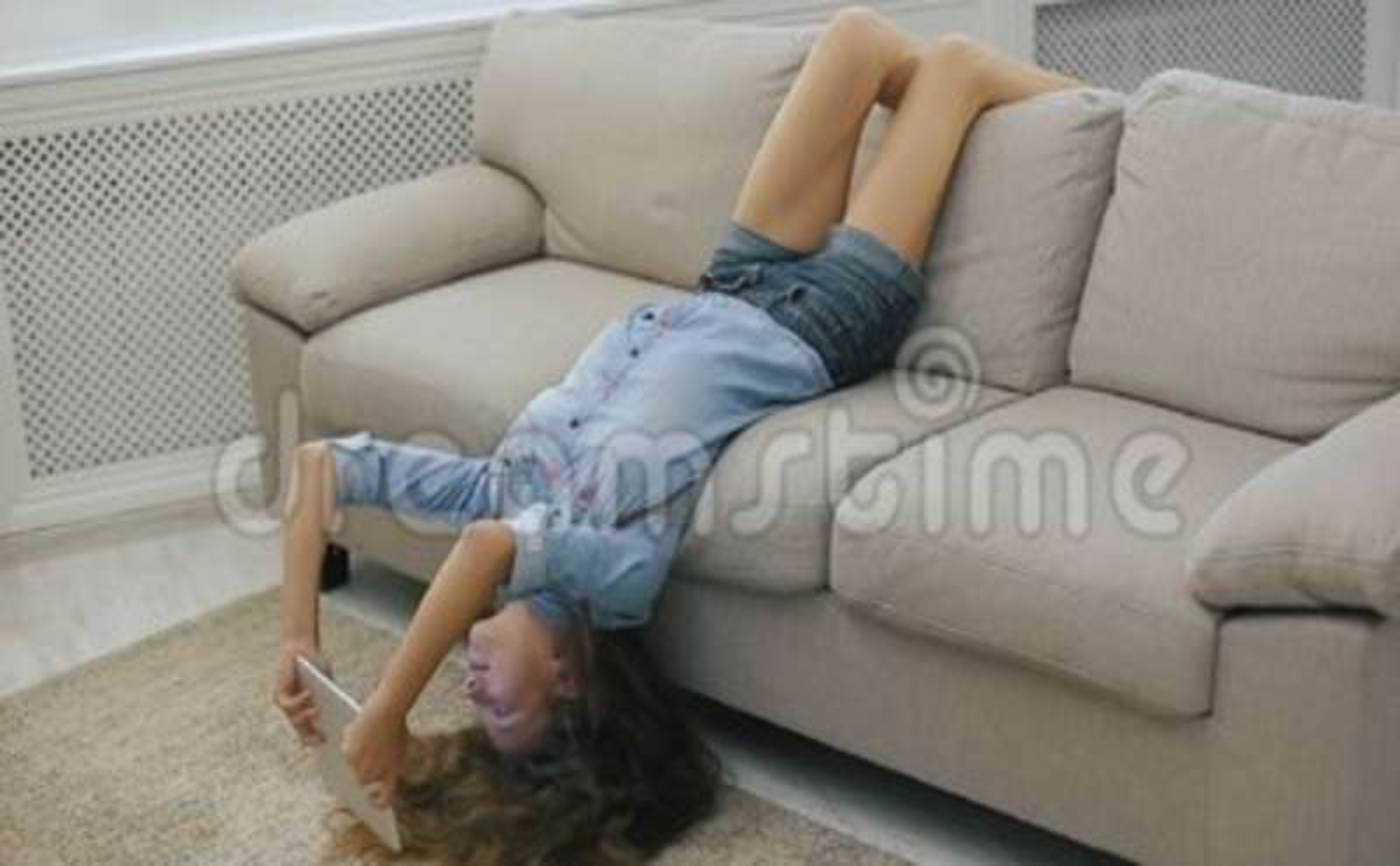 Great Nice Teens On A Sofa