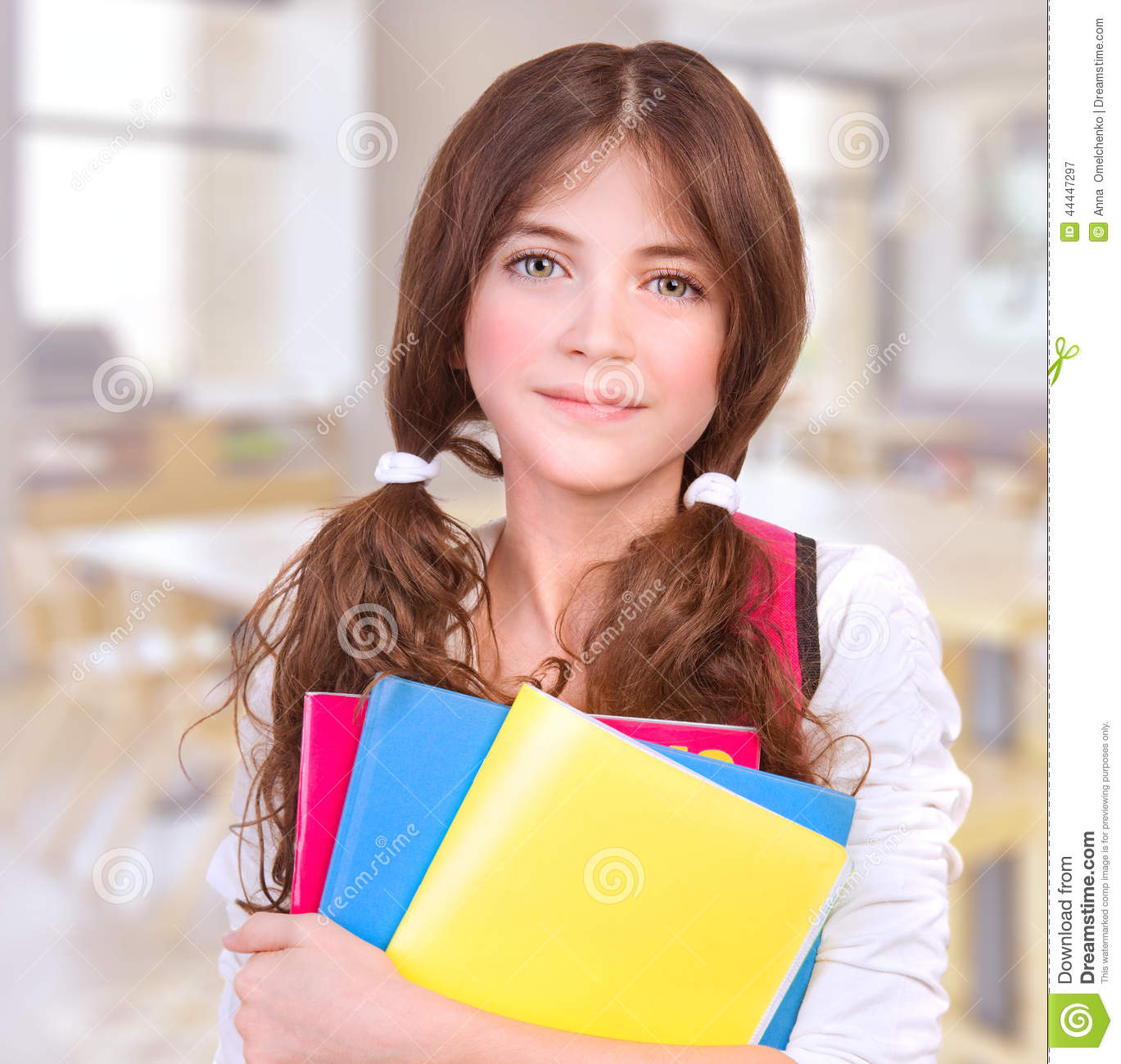 Cute girl at school stock image image of cheerful for Cute teenager girls