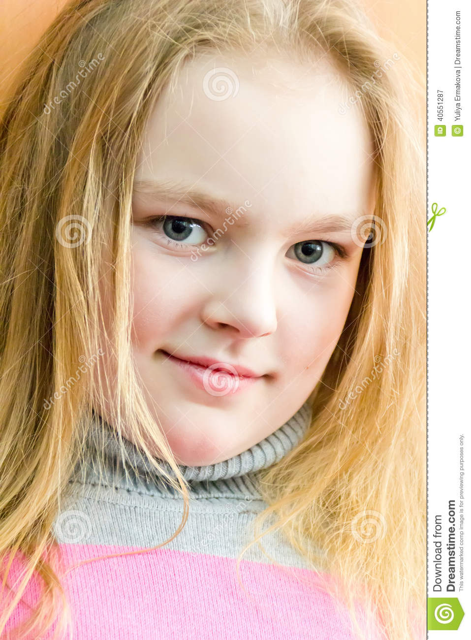 Cute girl seven years old