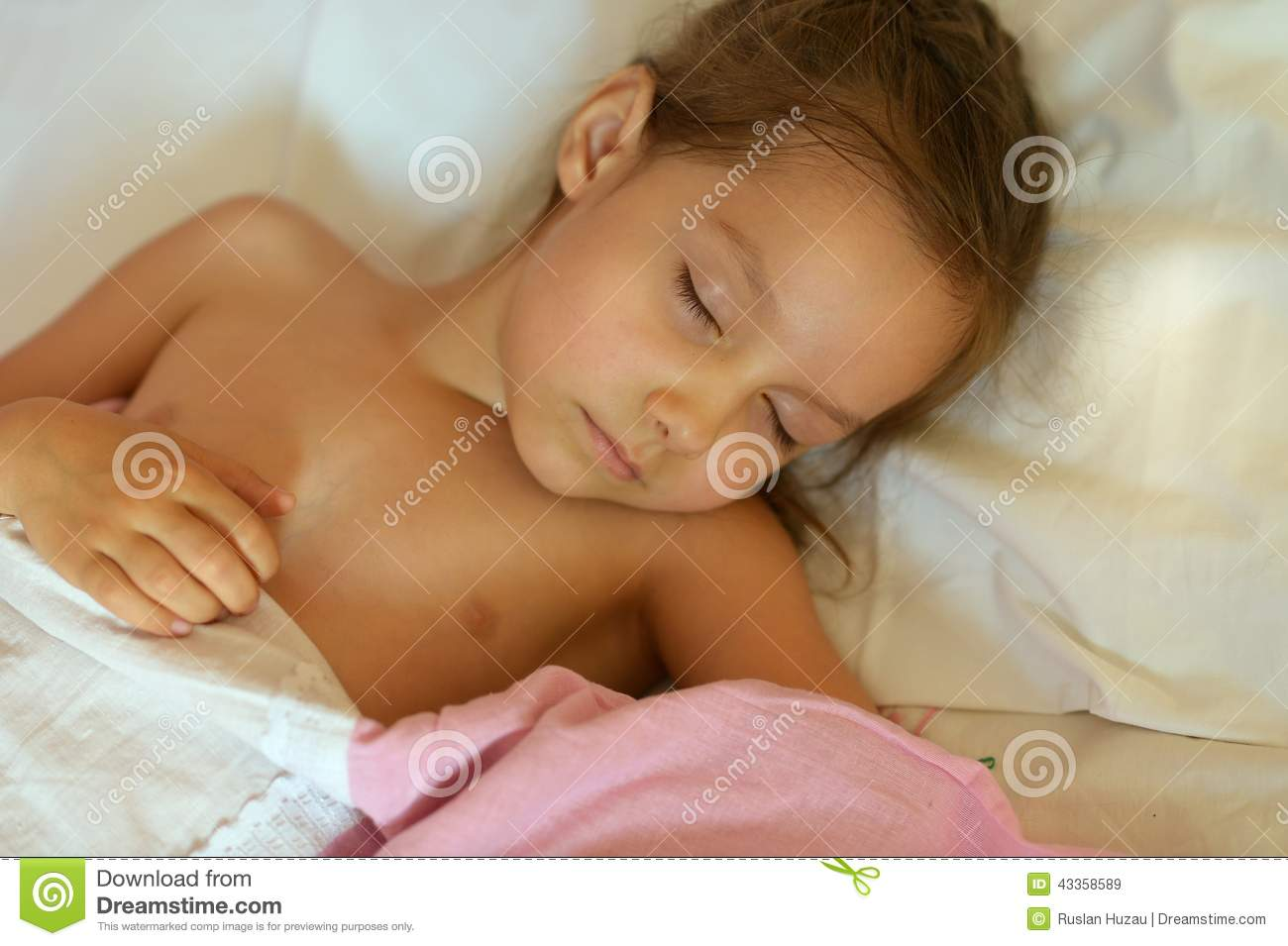 Royalty-Free Stock Photo. Download Cute Girl Sleeping In Bed ...