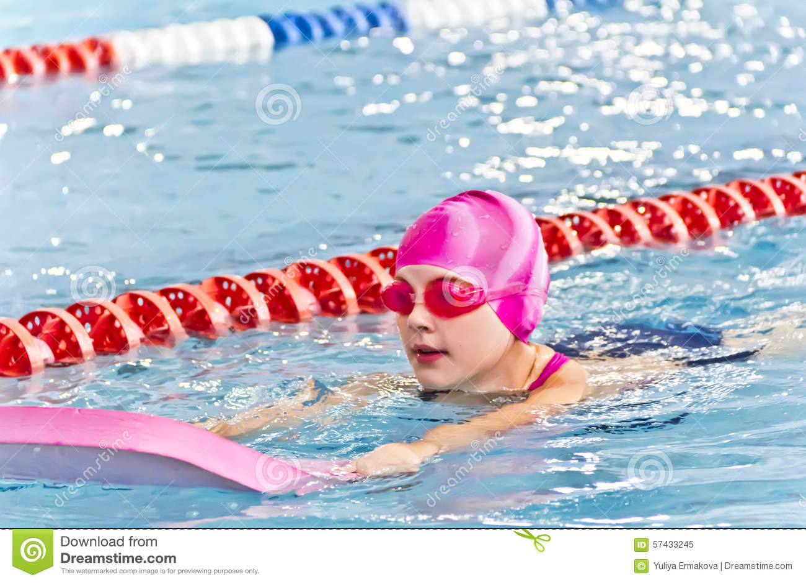 Sweet girls swim pool