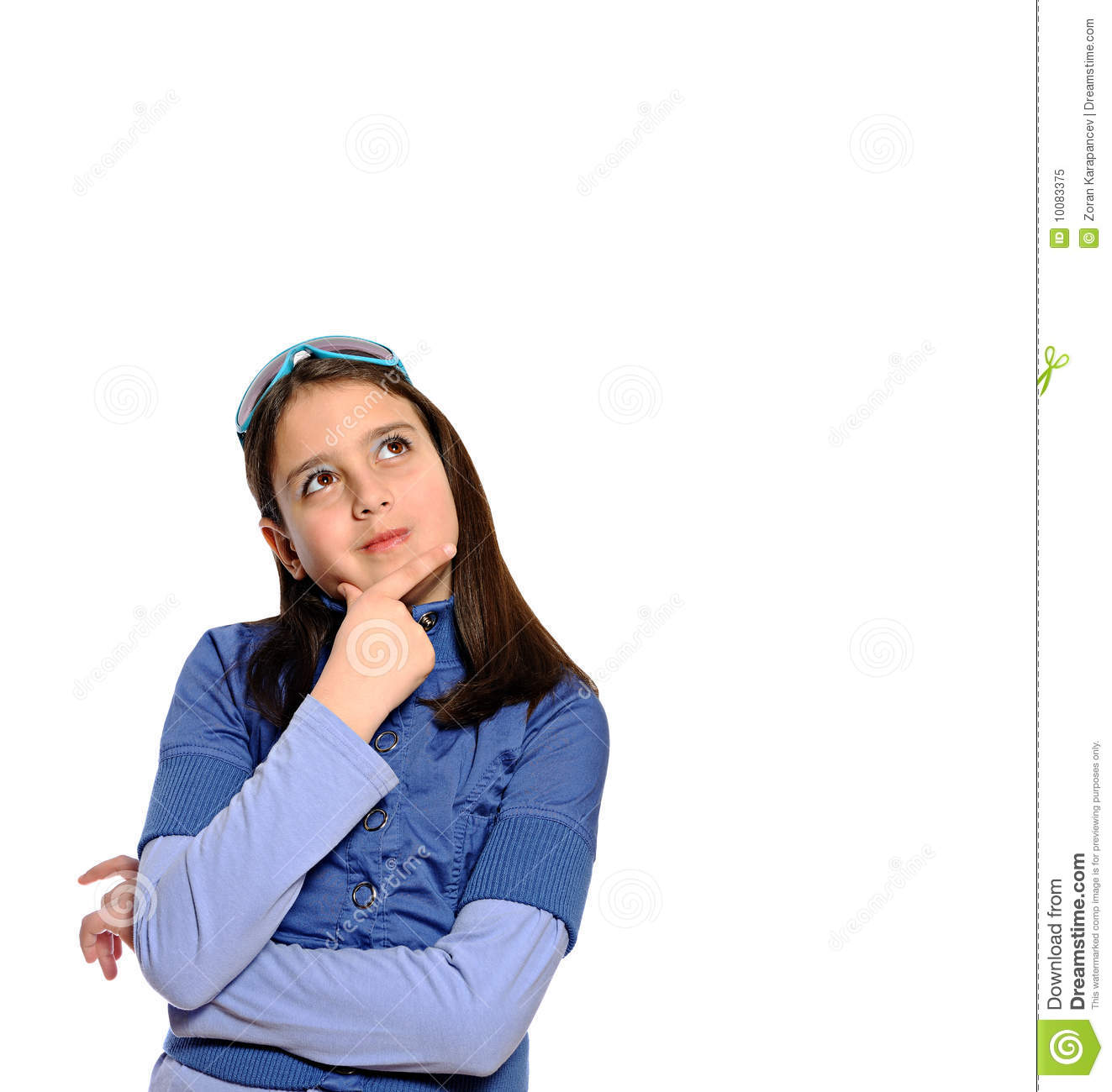 cute girl in thinking pose stock image image of beauty 10083375