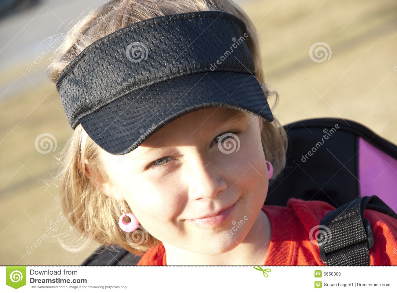 Cute Girl with Visor