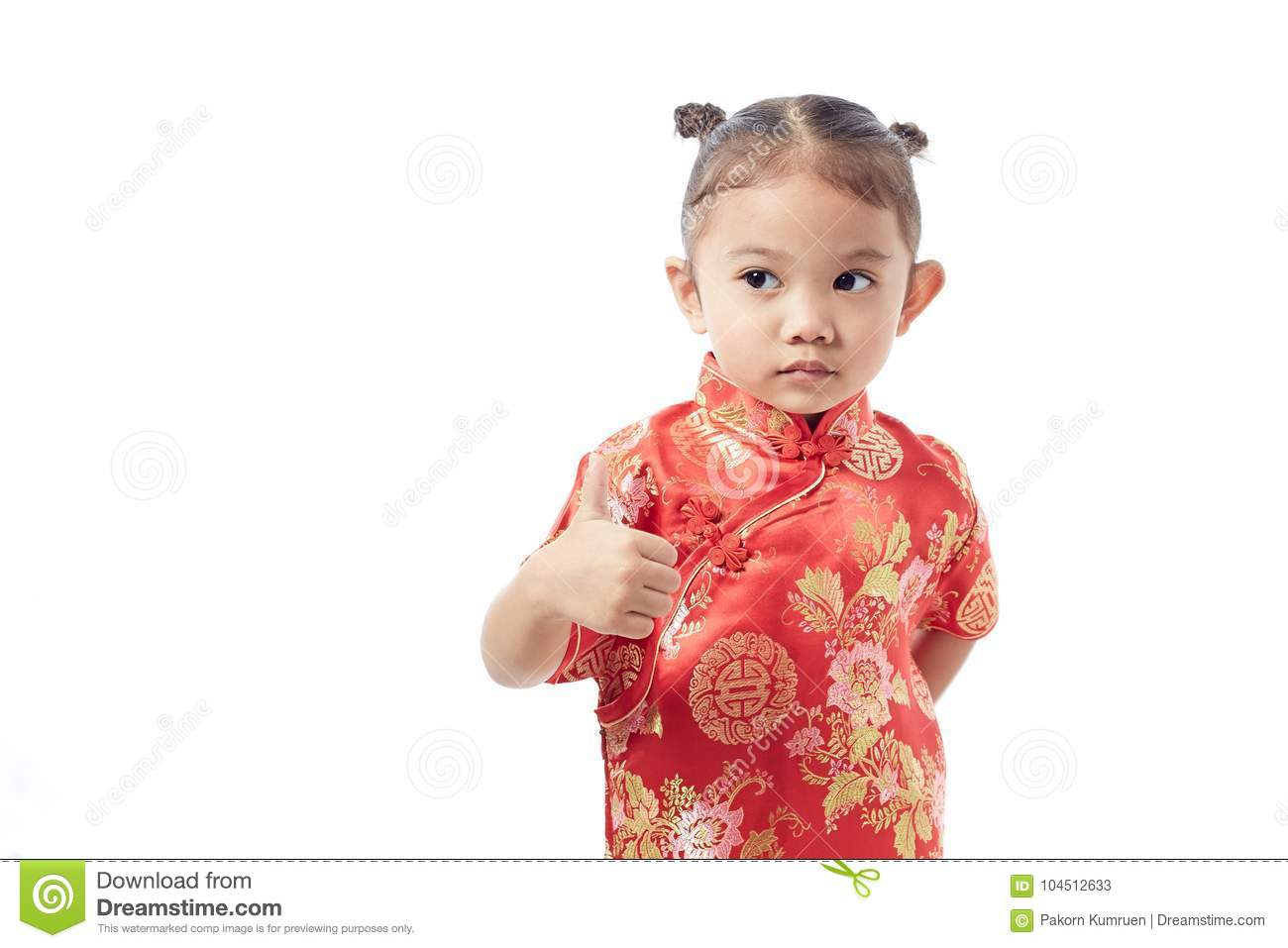 d4967432f60fa Cute Girl Wearing Red Chinese Suit Stock Image - Image of child ...