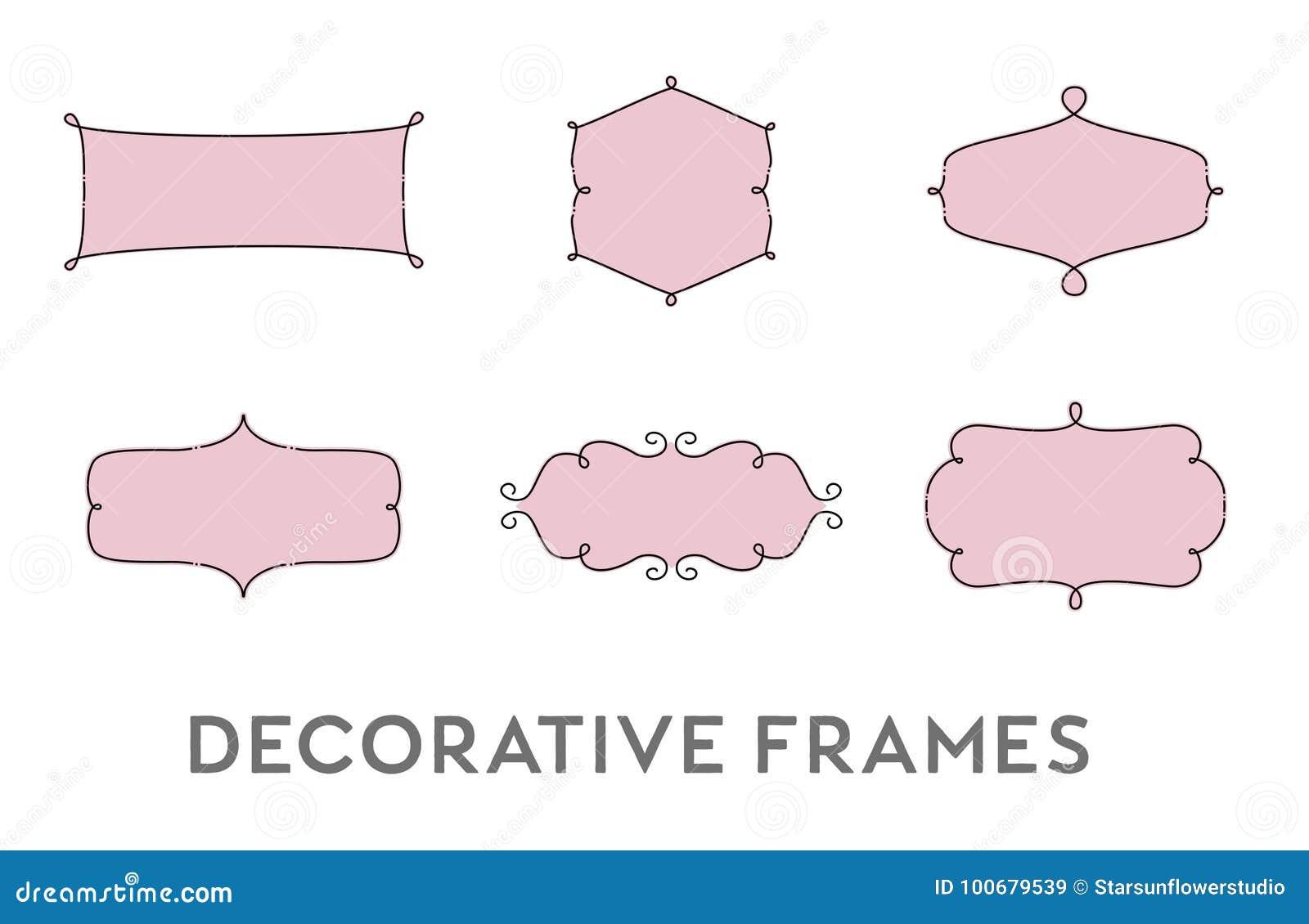 Decorative Frames Vector Set Stock Vector - Illustration of ...