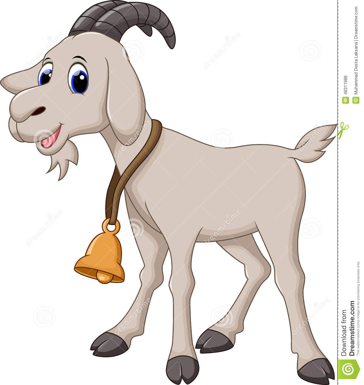 Cute Goat Cartoon Stock Illustration - Image: 48311988