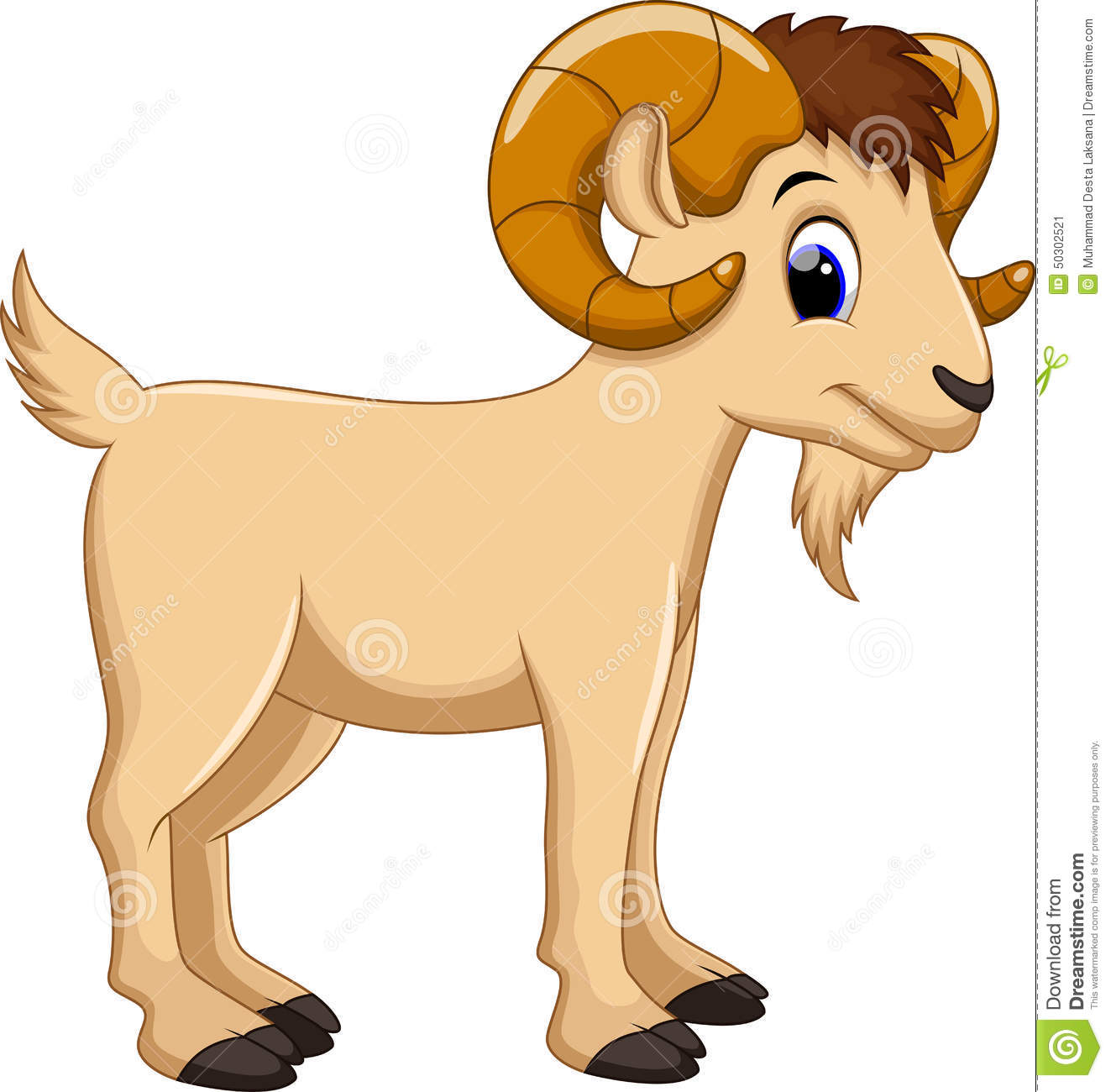 Cute Goat Cartoon Stock Illustration - Image: 50302521