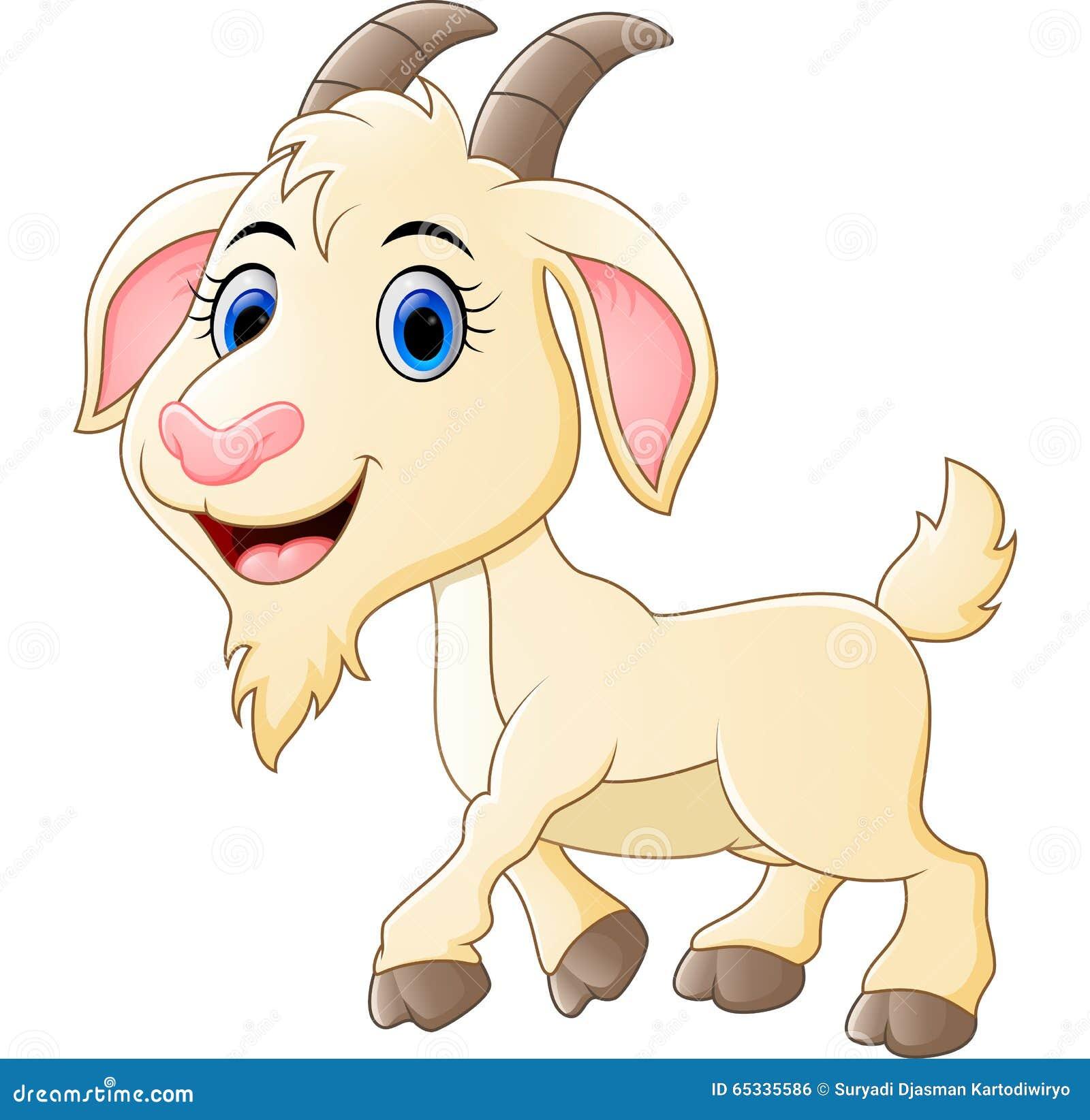 Cute goat cartoon stock vector. Illustration of creature ...