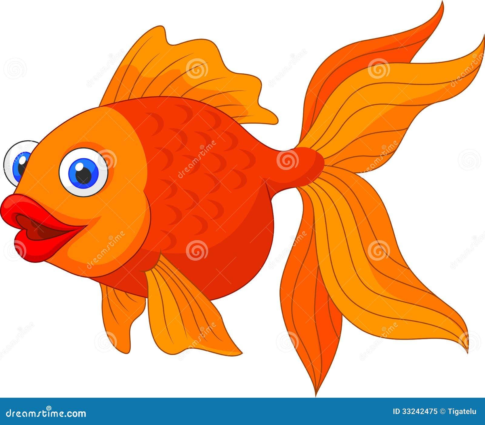 Cute Golden Fish Cartoon Royalty Free Stock Photo - Image: 33242475