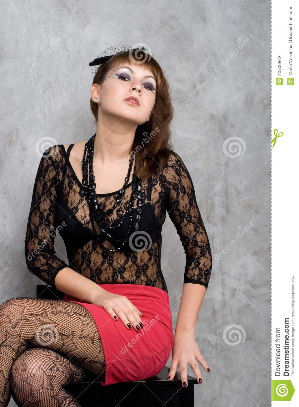 Cute Gothic Girl Stock Photo Image Of Outfit Mesh
