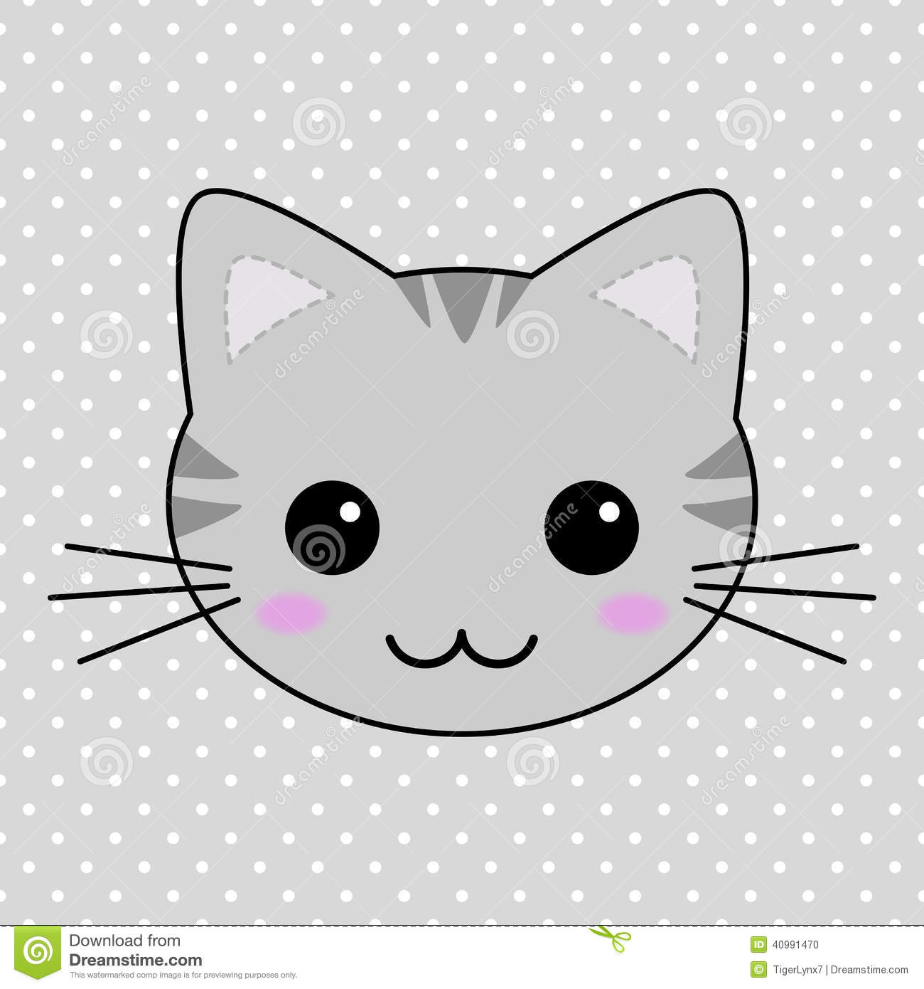 Grey Cats With Black Stripes Round Faces