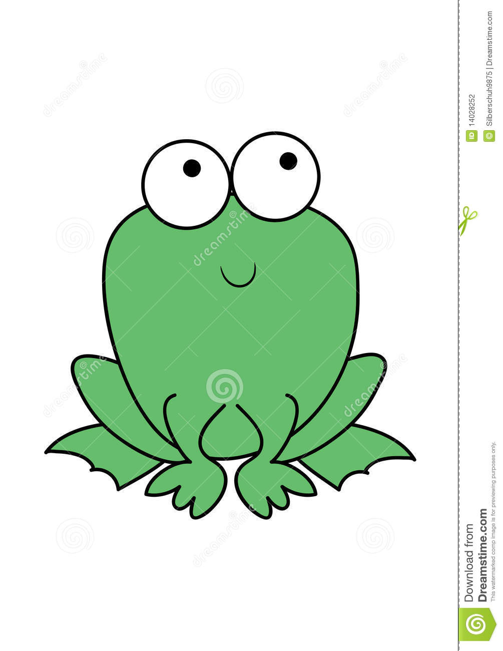 cute green cartoon frog stock vector illustration of friendly