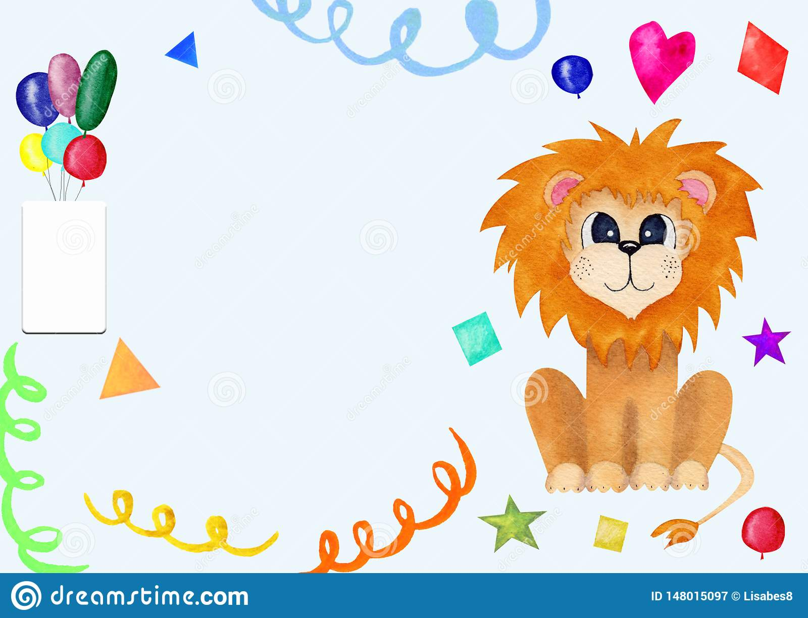 Tremendous Cute Greeting Card For Kids With Lion Birthday Invitation With Funny Birthday Cards Online Fluifree Goldxyz