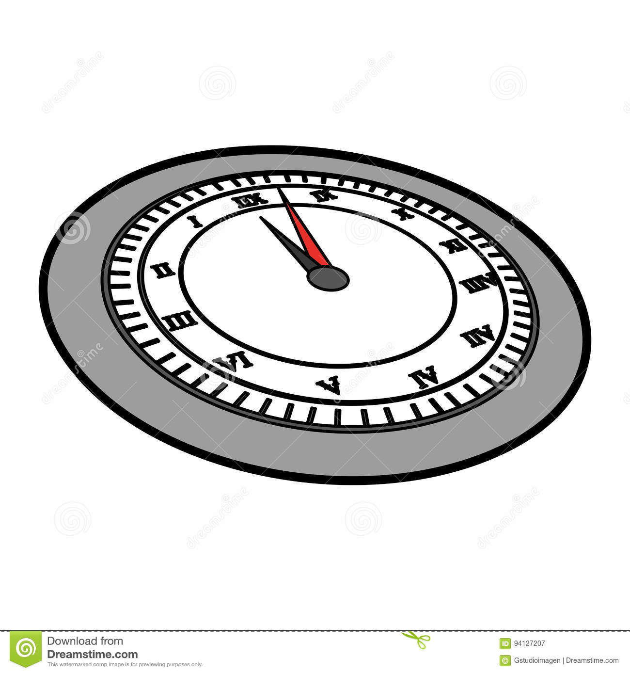cute grey clock cartoon stock vector  image of concept