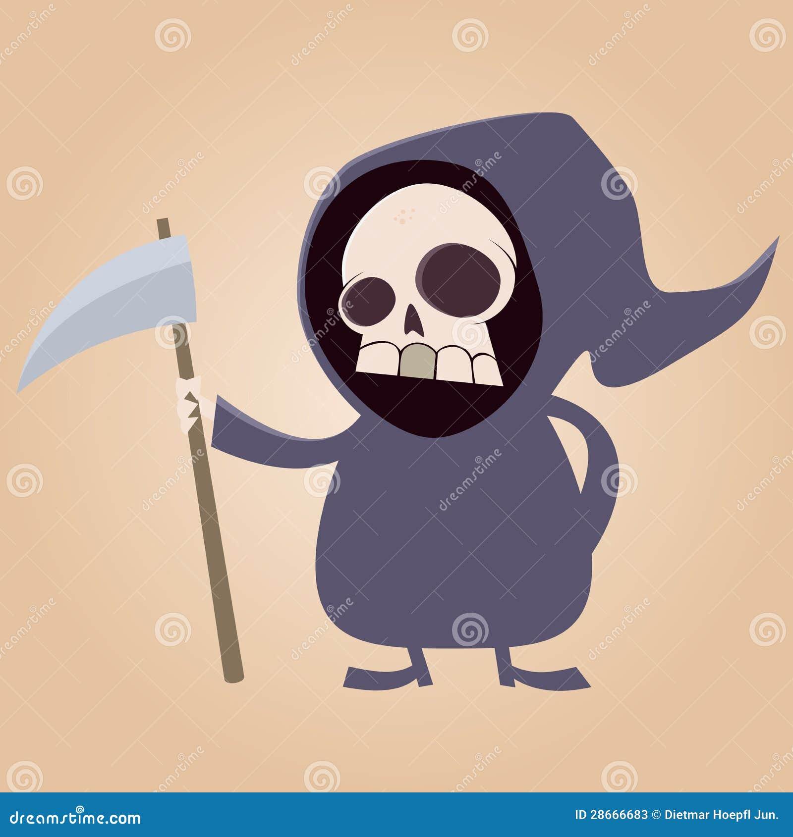 Cute Grim Reaper Stock...