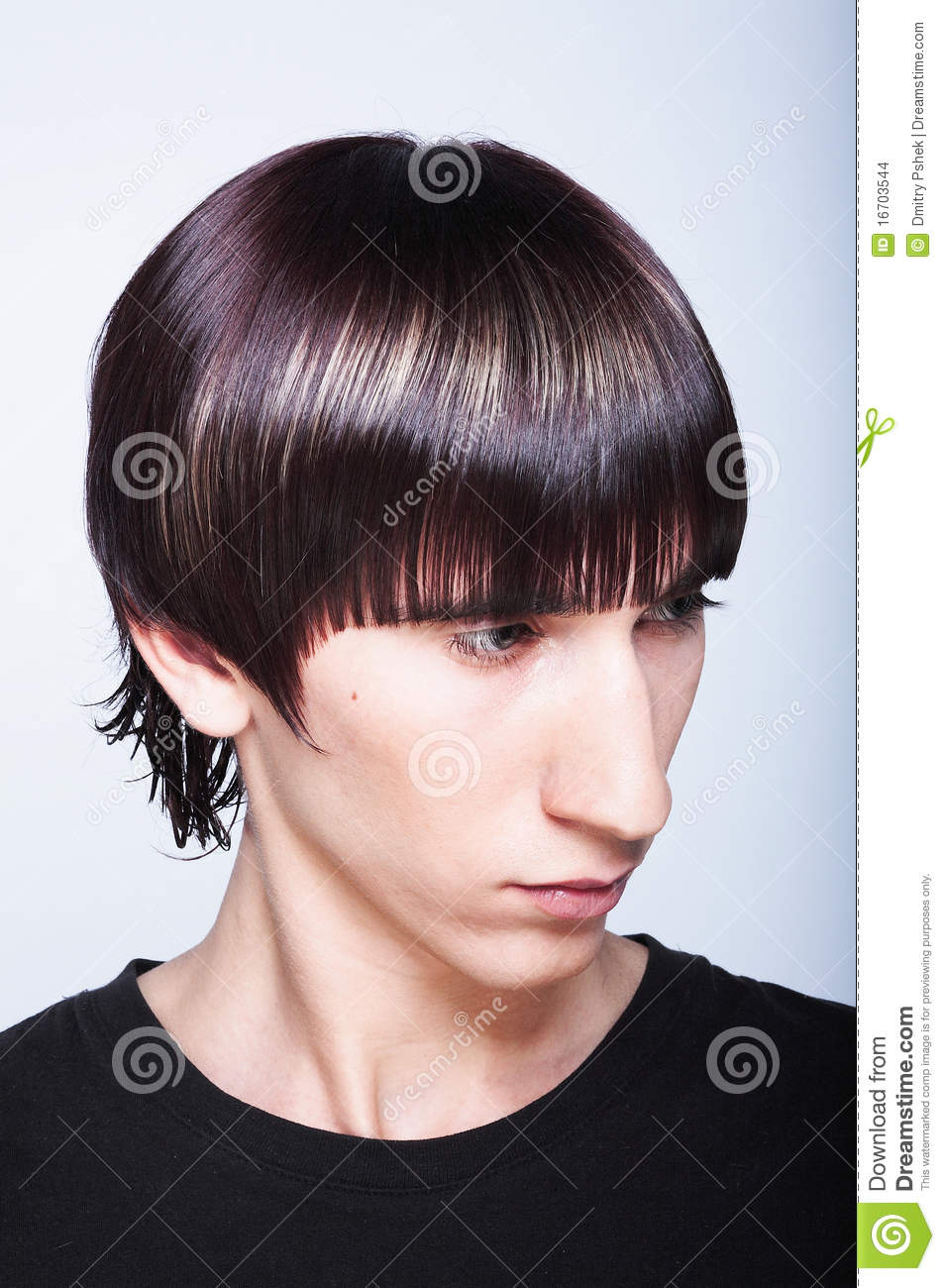 Cute Guy With Fashion Haircut Stock Images Image 16703544
