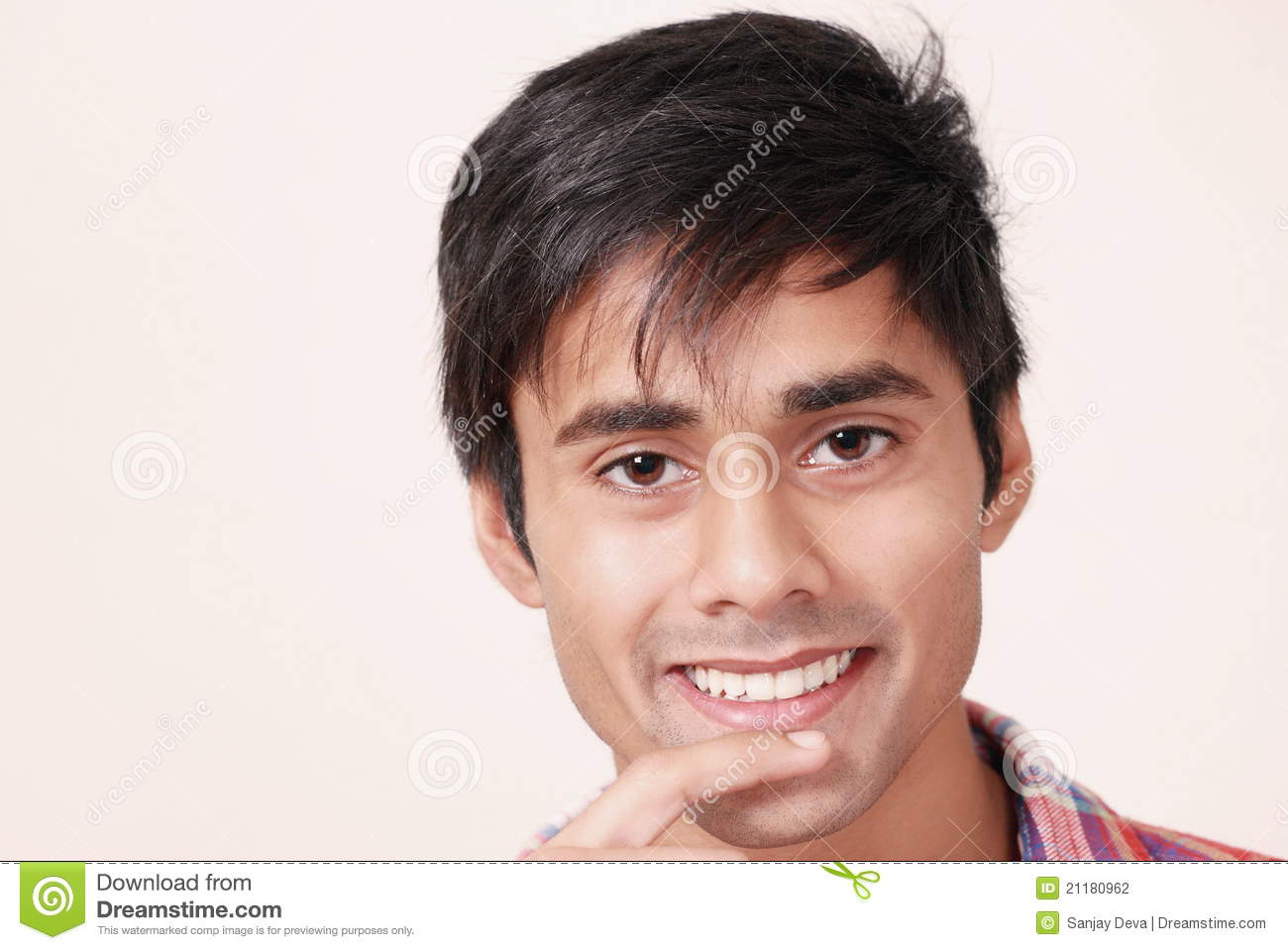 Cute guy grinning