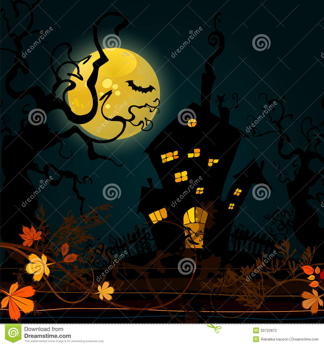 Cute Halloween Background Stock Photography - Image: 20722872