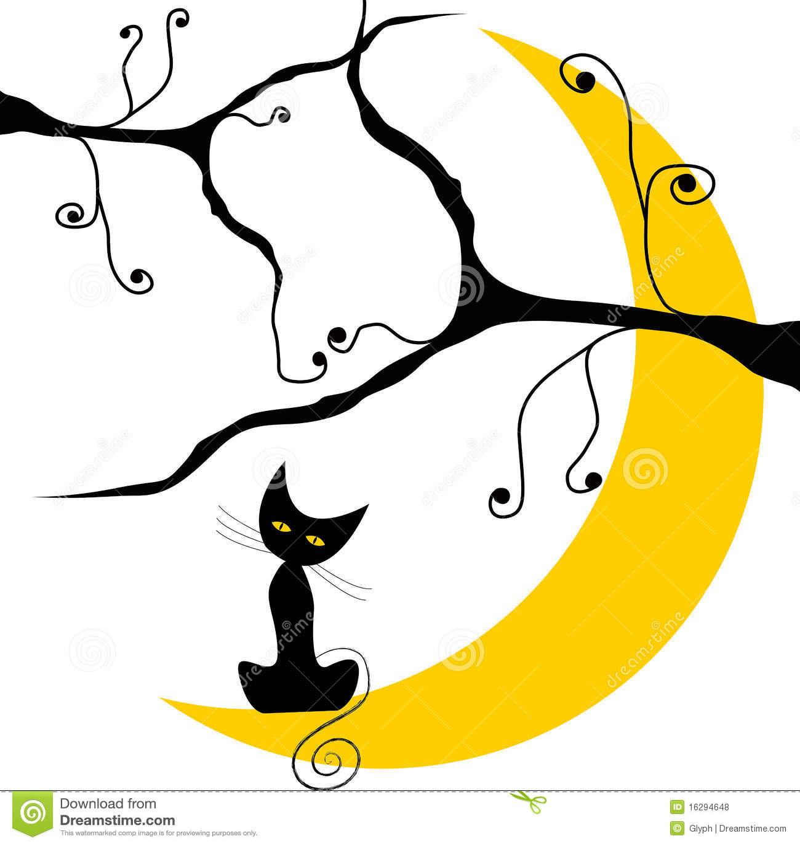 Cute Halloween Decorations Pinterest: Cute Halloween Cat Royalty Free Stock Photos