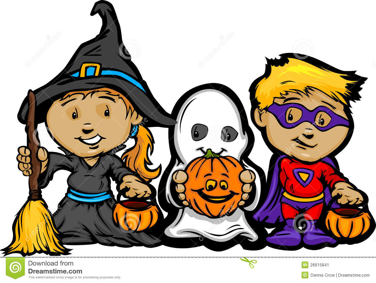 cute halloween kids in trick or treat costumes stock vector rh dreamstime com trick or treat candy clip art trick or treat sign clip art