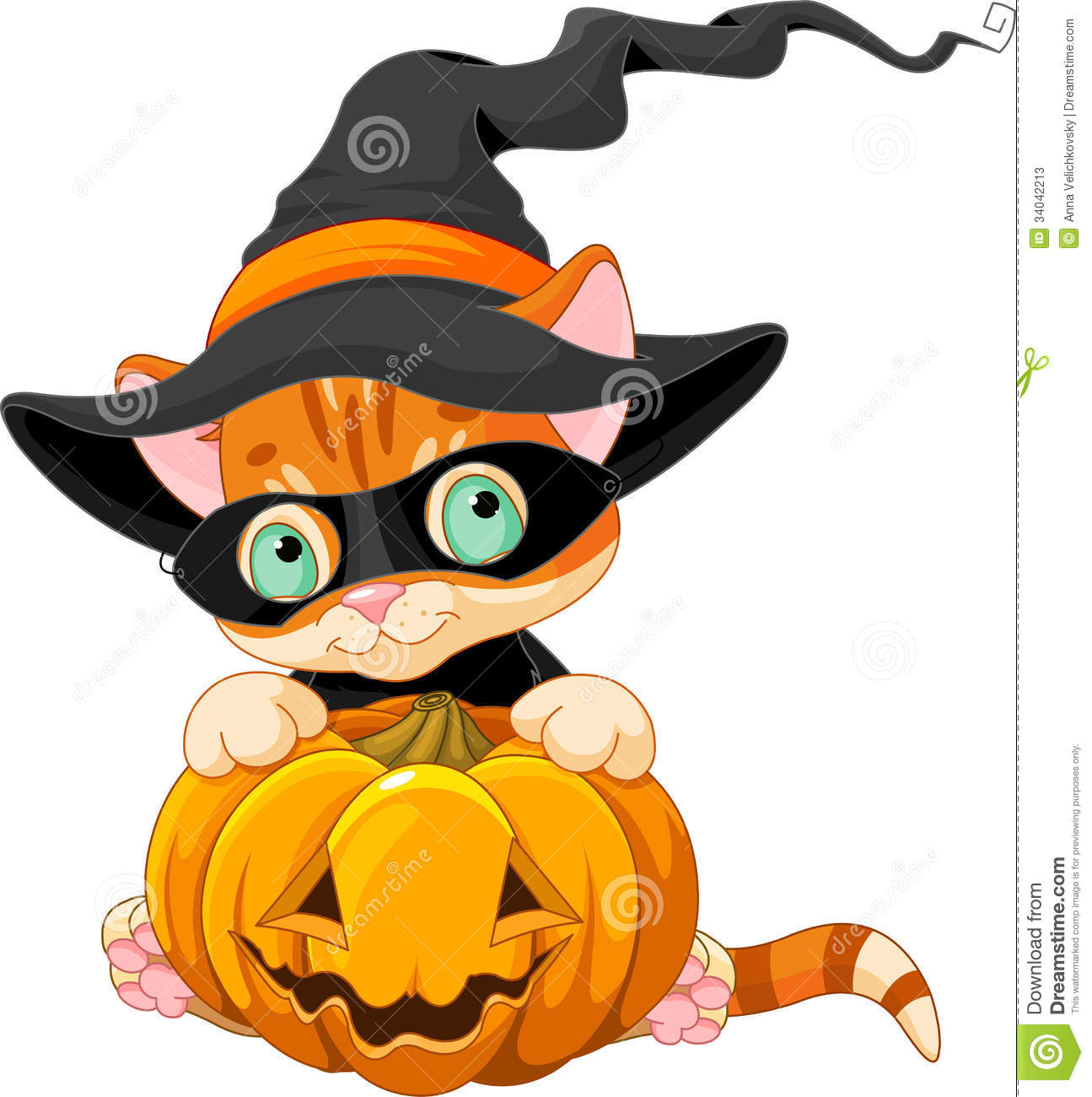 cute halloween kitten stock vector. illustration of domestic - 34042213