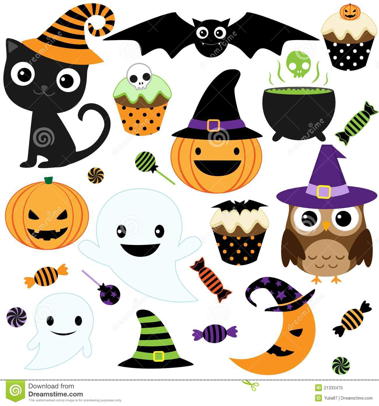 Cute Halloween Party Royalty Free Stock Photo - Image: 21333475
