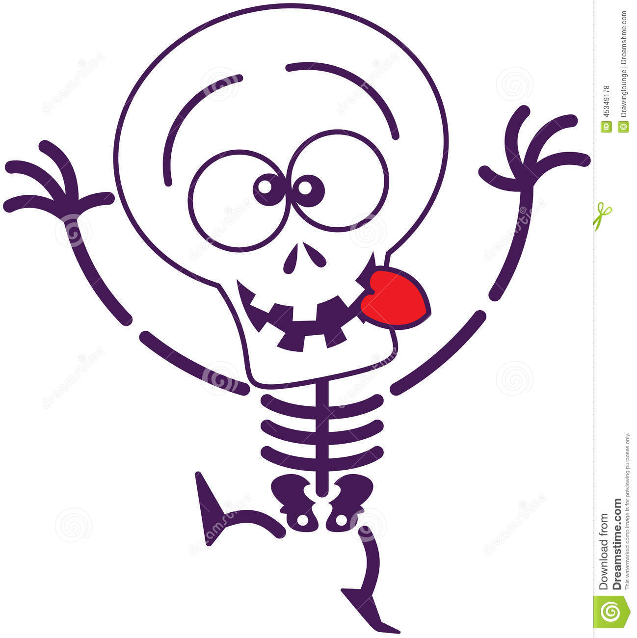 Cute Halloween Skeleton Making Funny Faces Stock Vector ...