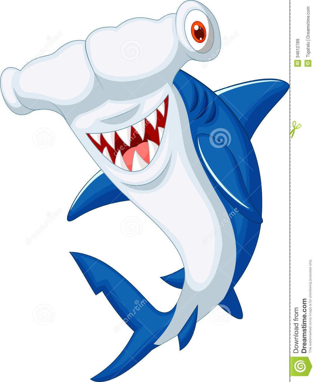 Cute Hammerhead Shark Cartoon Royalty Free Stock Images - Image ...