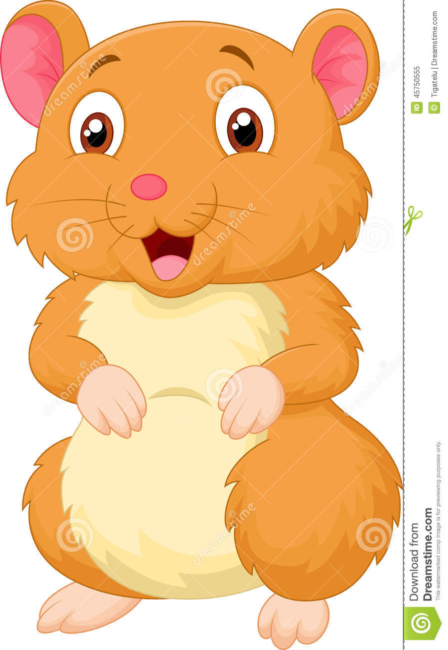 Cute Hamster Cartoon Stock Vector - Image: 45750555