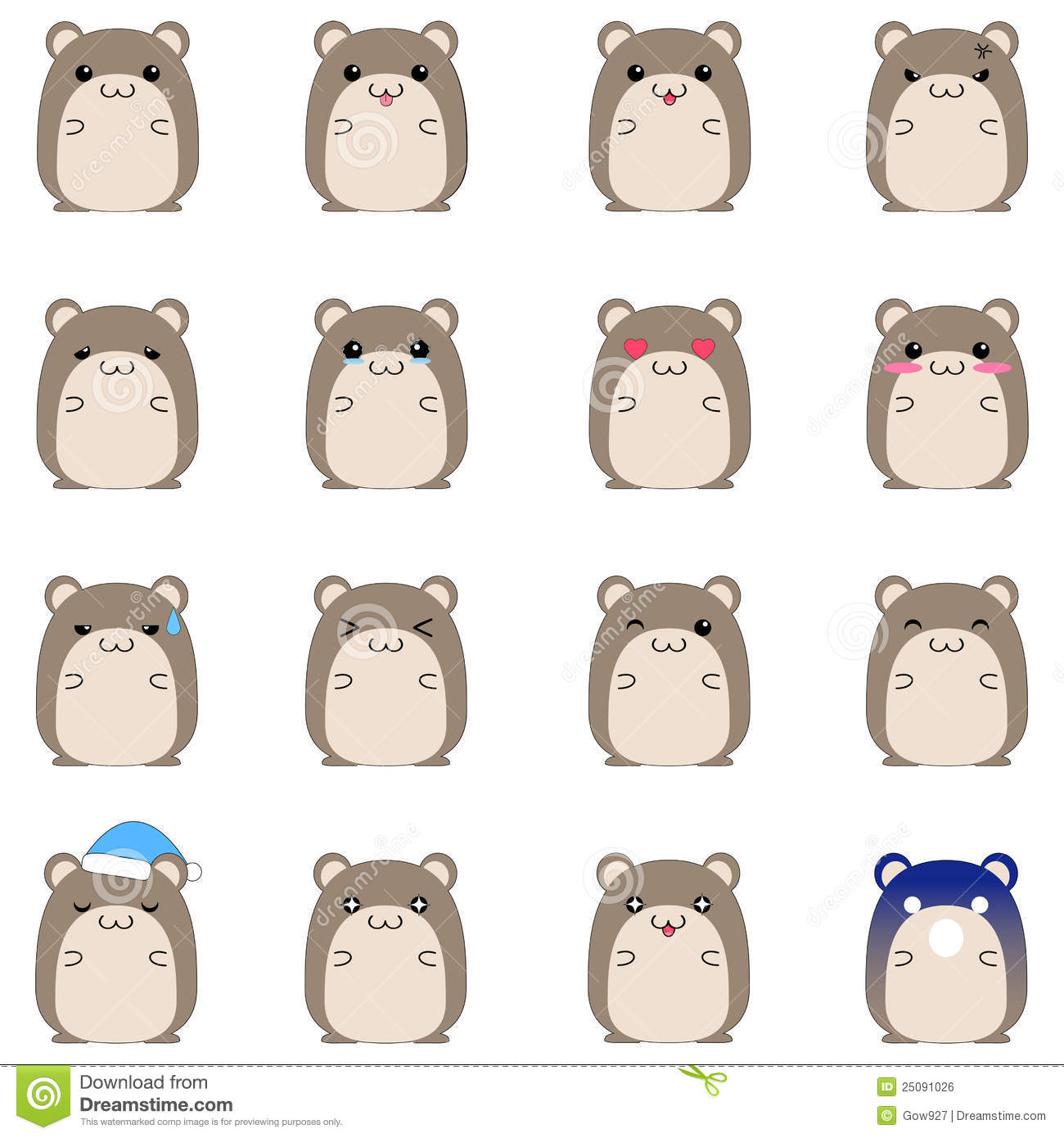 cute hamster emotional icons stock vector illustration hamster clipart cartoon hamster clipart b&w